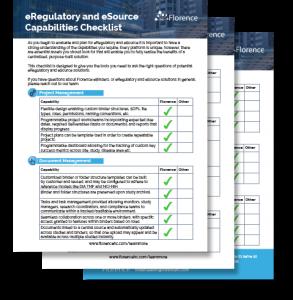eRegulatory and eSource Capabilities
